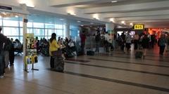 Airport walking through terminal gates P HD 9579 Stock Footage