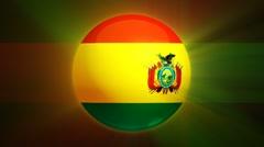 Bolivia-Globe Stock Footage