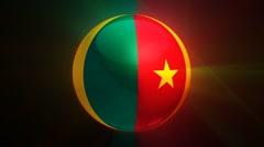 Cameroon-Globe Stock Footage