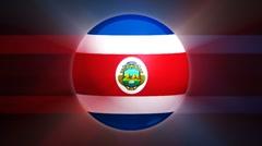 Costa Rica-Globe Stock Footage
