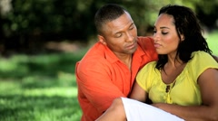 Portrait of Happy Young Ethnic Couple Stock Footage