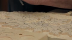 Wood Carver Working - stock footage