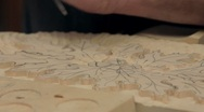 Stock Video Footage of Wood Carver Working