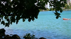 People - Man excercising in Kayak - Condado Lagoon v2 - stock footage