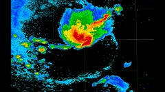 SEVERE THUNDERSTORM Weather Radar Time Lapse Stock Footage