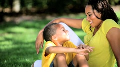Portrait of Loving Ethnic Mother & Son - stock footage