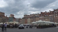 Stock Video Footage of Old Town in Warsaw, Poland