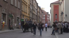 Old Town in Warsaw, Poland - stock footage