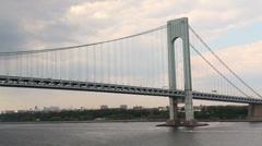 Verrazano-Narrows Bridge 2214 Stock Footage