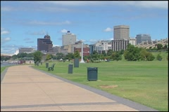 Memphis Skyline Stock Footage