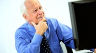 Mature Male Business Consultant in Portrait Stock Footage