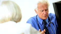 Male Medical Consultant Meeting with Patient - stock footage