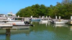 Small Fishing Village Docks 2 Stock Footage