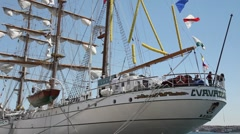 Old navy sail ship HD 1080p Stock Footage