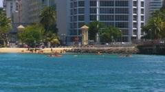 Puerto Rico - People at Condado Beach 3 Stock Footage