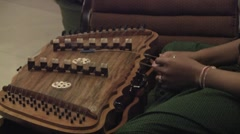 Khim, a traditional asian musical instrument. Stock Footage