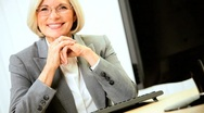 Portrait of Mature Female Business Consultant Stock Footage