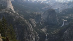 View from Glacier Point, Yosemite National Park Stock Footage