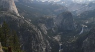 Stock Video Footage of View from Glacier Point, Yosemite National Park