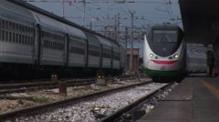 Train in Padova, Italy - stock footage