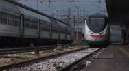 Train in Padova, Italy Stock Footage