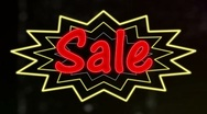 Neon Sale Sign Stock Footage