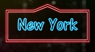 Four Cities Neon Sign Loop Stock Footage