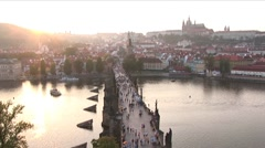 Stock Video Footage of Charles Bridge-Prague