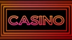 Neon Casino Sign Loop - stock footage