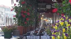 Restaurants in Venice, Italy Stock Footage