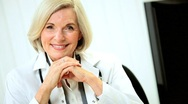 Portrait of a Senior Female Medical Consultant Stock Footage