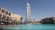 The Address hotel at Dubai Mall Stock Footage