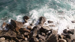 Sea waves and cliffs Stock Footage