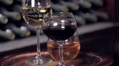 Wine Glasses Stock Footage