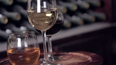 Wine Glasses - stock footage