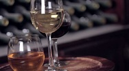 Wine Glasses Stock Footage