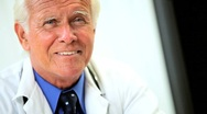 Senior Medical Doctor in his Consulting Rooms Stock Footage