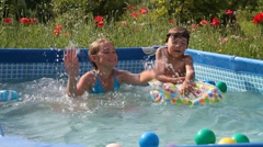 Happy Swimming Stock Footage