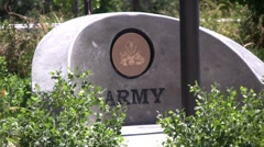 Army Memorial Cement 2 Stock Footage