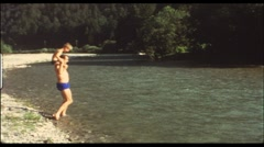 Camping in the 1960s (vintage 8 mm amateur film) - stock footage