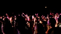 Concert Cheering Crowd Stock Footage
