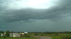 weather, nice lightning strike, thunderstorm clouds advance - stock footage