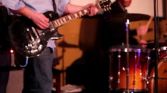 Guy playing guitar Stock Footage
