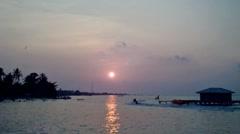 Sunset in Tidung Island Jakarta Stock Footage