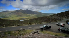Connor Pass in the Dingle Peninsula, Ireland GFHD Stock Footage