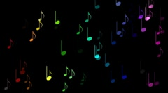 Stock Video Footage of Colourful musical notes.