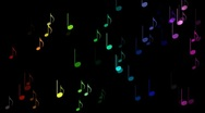 Colourful musical notes. Stock Footage