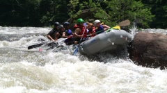 Rafting Accident Stock Footage