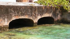 Puerto Rico - San Geronimo Fort  Entrance Bridge at Condado - stock footage