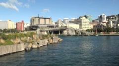 Waterfront in Wellington, NZ Stock Footage